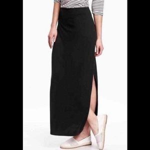 Womens Old Navy Black Maxi Skirt Size XS